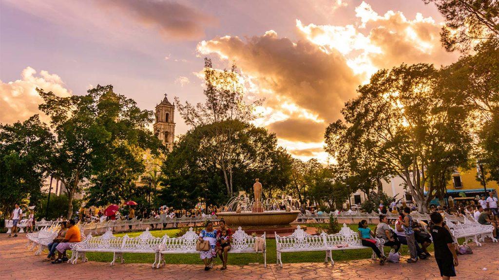Parque Francisco Cantón Rosado Valladolid Yucatán